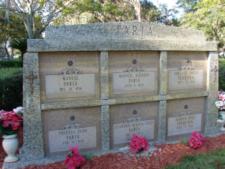 six compartment mausoleum